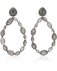 Kimberly Mcdonald - 18k Gold And Black Diamond Drop Earrings - Lyst
