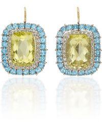 Renee Lewis - Citrine And Diamond Earrings - Lyst