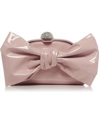 Alessandra Rich - Large Patent Leather Bow Bag - Lyst