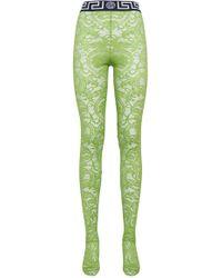 Versace - Greca Border Lace Stockings - Lyst