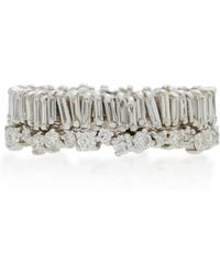 Suzanne Kalan - 18k White Gold Diamond Ring - Lyst