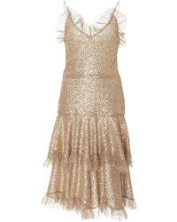 Rodarte - Metallic Ruffled Lace Dress - Lyst