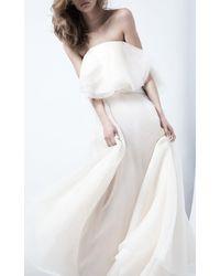Maticevski Heaven Float Asymmetric Silk Maxi Skirt