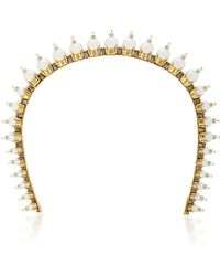 Erickson Beamon - My One And Only 24k Gold-plated Crystal And Pearl Headband - Lyst