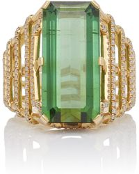 Goshwara - 18k Gold, Tourmaline And Diamond Ring - Lyst