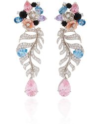 Anabela Chan - M'o Exclusive Rose Quartz Palm Earrings - Lyst