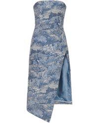 Off-White c/o Virgil Abloh - Tapestry Bustier Dress - Lyst