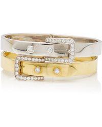 Sidney Garber - Set Of 2 Gold Buckle Bracelet - Lyst