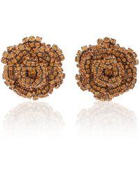 Rebecca de Ravenel - Ava Floral Topaz Earrings - Lyst