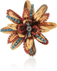 Erickson Beamon - Blue Vermeil Bouquet 24k Gold-plated Crystal Brooch - Lyst