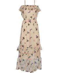 Rahul Mishra - Bouquet Chiffon Strap Frill Dress - Lyst