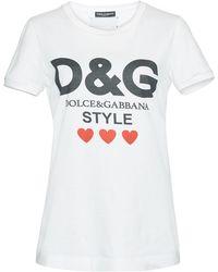 Dolce & Gabbana - Printed Cotton-jersey T-shirt - Lyst