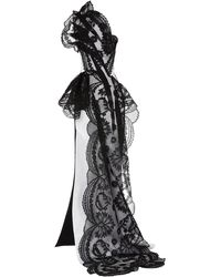 Maticevski Belladonna One-shoulder Chantilly Lace Gown