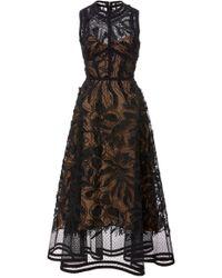 Elie Saab - A-line Lace Midi Dress - Lyst