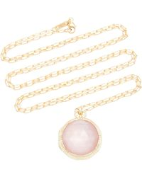 Monica Rich Kosann - 18k Gold, Rose Quartz And Mother Of Pearl Necklace - Lyst