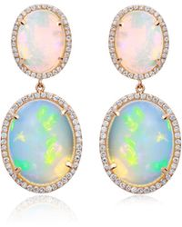 Nina Runsdorf - M'o Exclusive: One-of-a-kind Double Opal Drop Earrings - Lyst