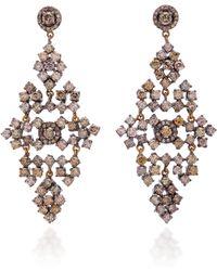 Sanjay Kasliwal - 14k Gold, Silver And Diamond Earrings - Lyst