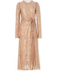 Galvan London - Sequined Tulle Midi Dress - Lyst