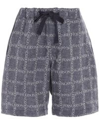 JW Anderson - Printed Cotton-voile Shorts - Lyst
