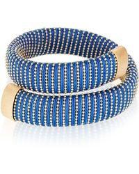 Carolina Bucci | Cobalt Caro Gold-plated Bracelet | Lyst