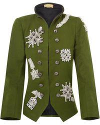 Nadya Shah - Khaki Epaulette Jacket - Lyst