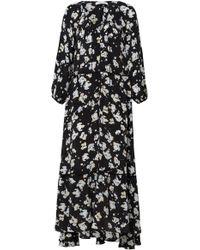 Dorothee Schumacher - Artistic Blossoms Printed Crepe De Chine Maxi Dress - Lyst