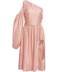 Kalmanovich - One-shoulder Cutout Satin Dress - Lyst
