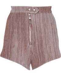 Ellery - Zip-detailed Side-slit Faille Mini Shorts - Lyst