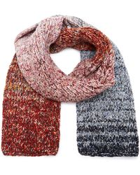 Victoria Beckham - Marled Cable-knit Scarf - Lyst
