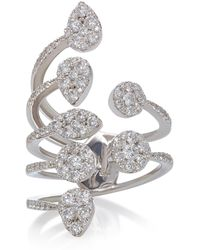 Sara Weinstock - Reverie White Gold And Diamond Open Ring - Lyst