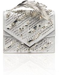 Ralph & Russo - Alina Crystal-embroidered Leather Clutch - Lyst