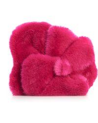 Delpozo - Lotus Faux Fur Clutch - Lyst