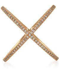 Eva Fehren - X 18k Rose Gold And Diamond Ring - Lyst