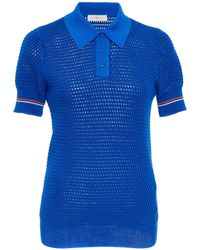 Tory Burch - Mesh Polo Sweater - Lyst