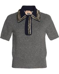 N°21 - Knitted Polo Shirt - Lyst