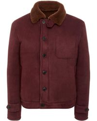 Shearling Suede Jacket Lyst Eidos And 6YqaC