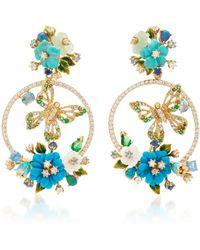 Anabela Chan - Turquoise Butterfly Wreath Earrings - Lyst