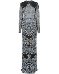 Cucculelli Shaheen - Salviana Column Print Gown - Lyst