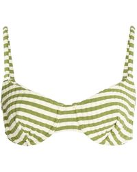 Solid & Striped - Ginger Striped Bikini Top - Lyst