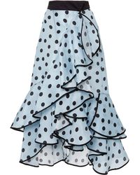 Johanna Ortiz - Exclusive Belle Époque Polka-dot Silk-organza Skirt - Lyst