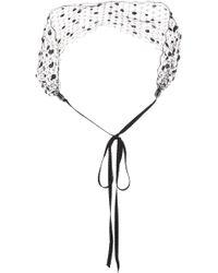 Gigi Burris Millinery - Cecile Embellished Veil Headband - Lyst