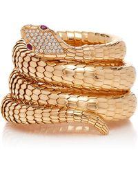 Sidney Garber - 18k Rose Gold Il Serpente Diamond Bracelet - Lyst