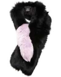 Charlotte Simone - Popsicle Two-tone Fur Scarf - Lyst