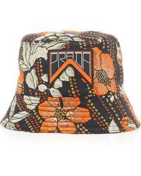 Prada Printed Cloqué Bucket Hat