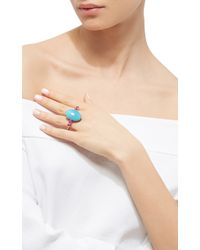 Ara Vartanian   Turquoise And Ruby Double Finger Ring   Lyst