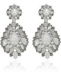 Marchesa - Casa Blanca Drop Earrings - Lyst