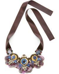 Ranjana Khan - Lapis Amethyst Black Necklace - Lyst