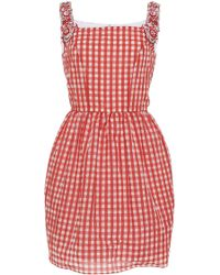 Holly Fulton - Mini Dress With Embellished Straps - Lyst