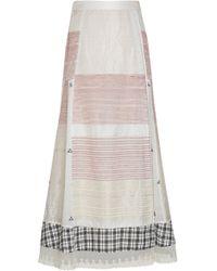 Rahul Mishra - Jamdani Panelled Poplin Midi Skirt - Lyst