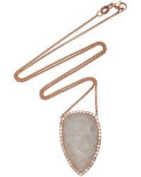Kimberly Mcdonald - 18k Rose Gold, White Druze And Diamond Necklace - Lyst